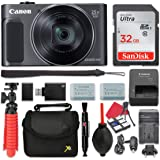 Canon PowerShot SX620 HS Digital Camera (Black) 25x Optical Zoom + 32GB SD + Spare Battery + Complete Accessory Bundle