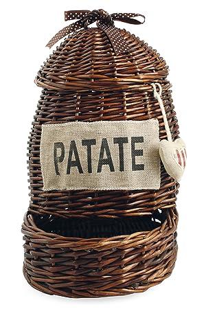 Villa d \'Este Home Tivoli Basket La Cucina Potato Brown: Amazon.co ...