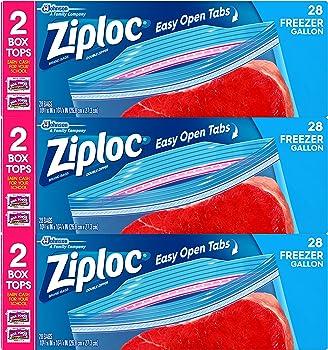84-Count Ziploc Gallon Freezer Bags