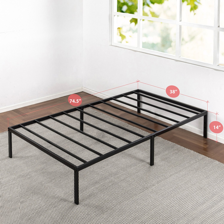 Amazon.com: Best Price Mattress Twin Bed Frame   14 Inch Metal