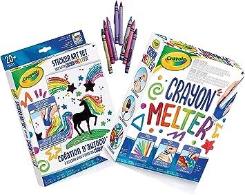Sticker Art Set Ages 8+ Fun for Hours Crayola Crayon Melter Bundle 8 Assorted Crayons Crayon Melter