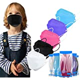 LUCIFER Multicolor 4-Ply Kids Comfortable Safety Face Mask made for Children Aged 4-8, 4 Layer 50PCS Individual Packs Disposa
