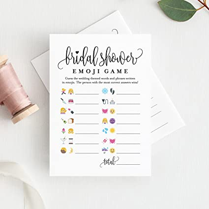bridal shower games emoji pictionary bridal shower game cards for wedding shower 25 set