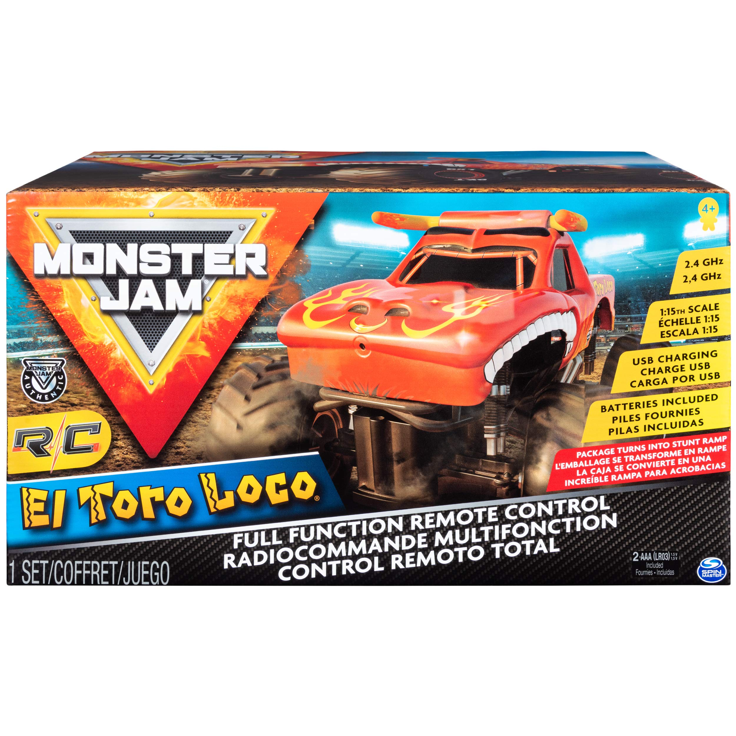 Monster Jam Official El Toro Loco Remote Control Monster Truck, 1:15 Scale, 2.4 GHz by Monster Jam (Image #2)