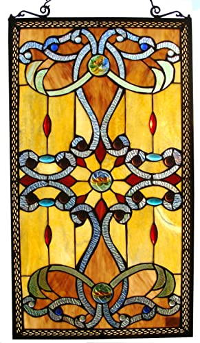 Fine Art Lighting Stained Glass Window Panel, 15 by 26-Inch