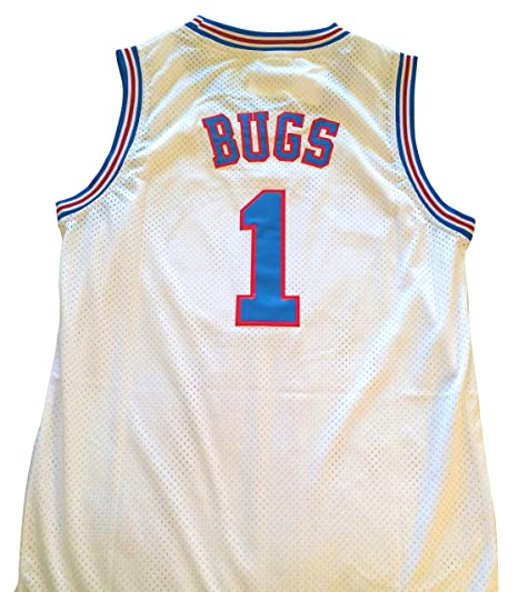 3607cf15460 Amazon.com : space jam Bugs Bunny Jersey - #1 Tune Squad - White (Small) :  Sports & Outdoors