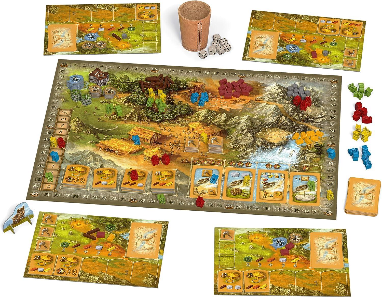 Schmidt Spiele Hans en Suerte 48282 Stone Age (Aniversario augabe), Multicolor: Amazon.es: Juguetes y juegos
