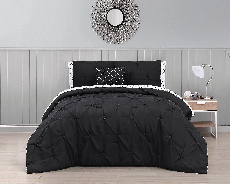 Avondale Manor BDF8BBKINGGHBK Bed in A Bag King Black