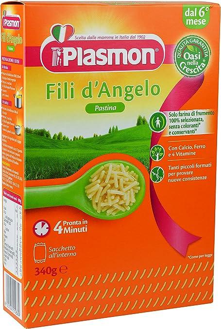 Plasmon pastina fili d/'angelo n°4 dal 6°mese 340gr