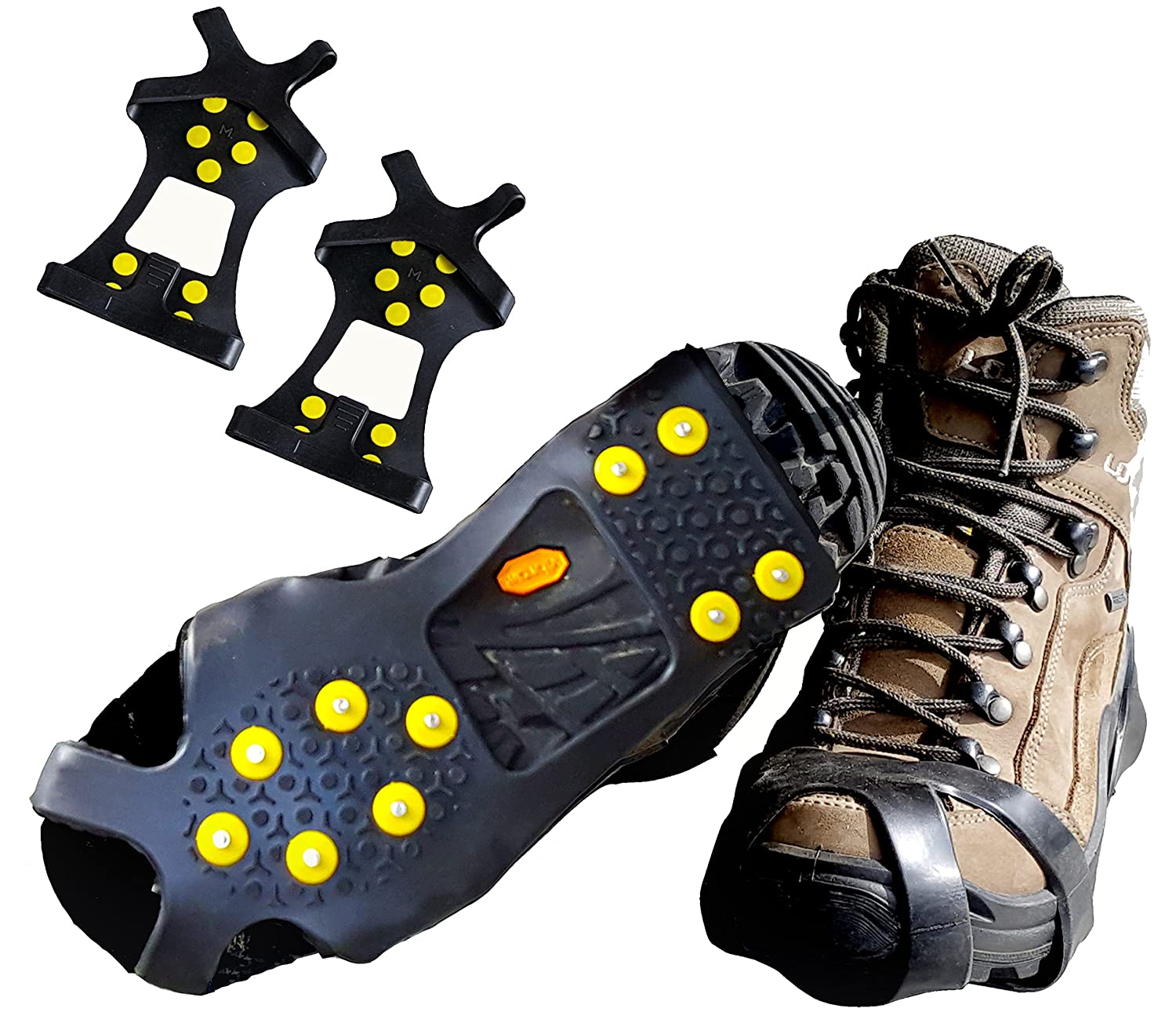 Limm Ice Traction Cleats Pro Grips Quickly and Easily Over Footwear for Snow and Ice Portable Sizes S M L XL