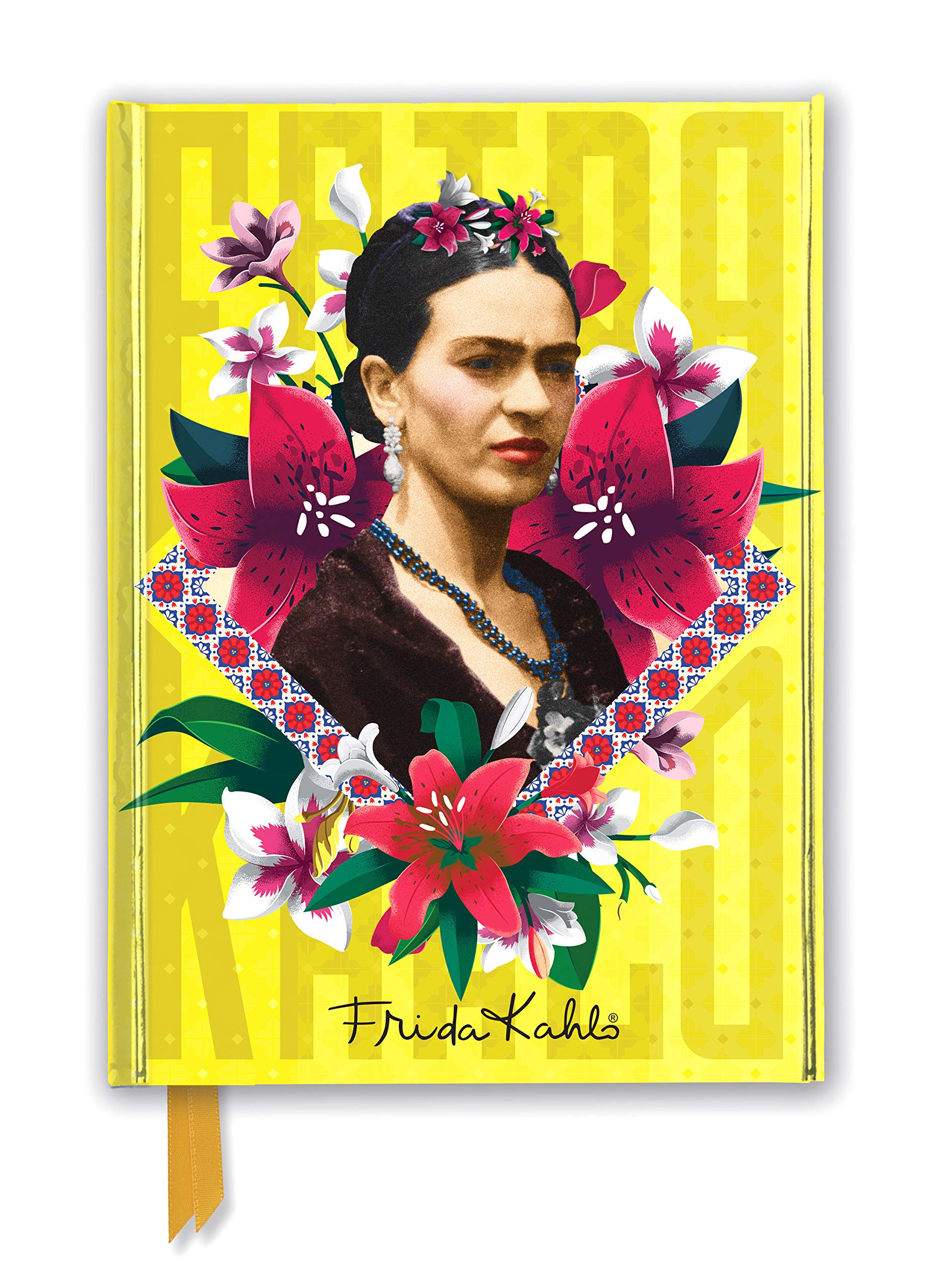 Frida Kahlo Yellow Foiled Journal Flame Tree Notebooks ...