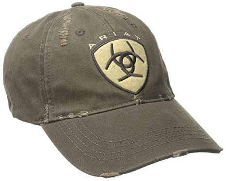 6a2450da ARIAT Men's Brown Distressed Hat, One Size at Amazon Men's Clothing ...
