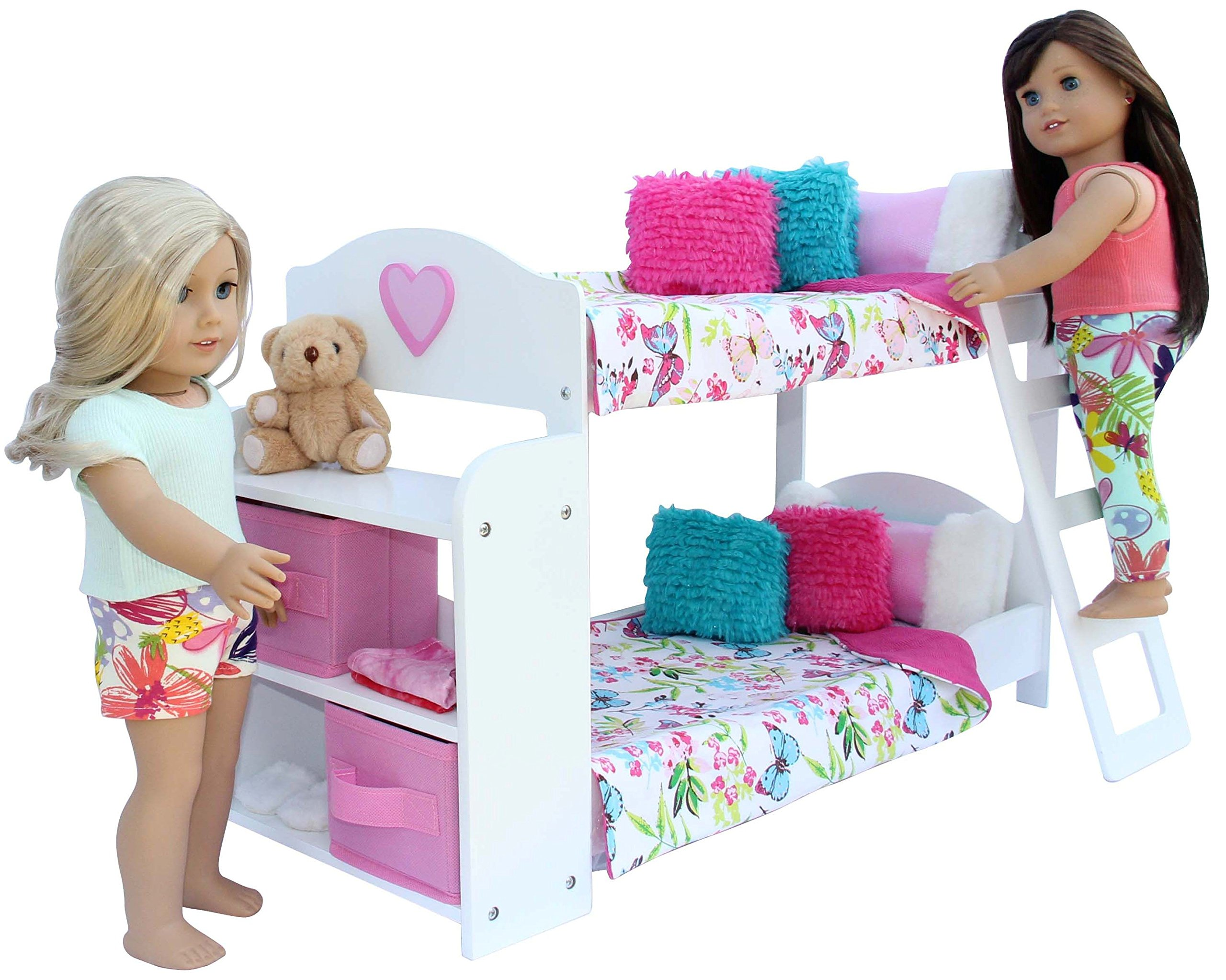 PZAS Toys Bedroom Set for 18-Inch American Girl Doll, 20-Pieces