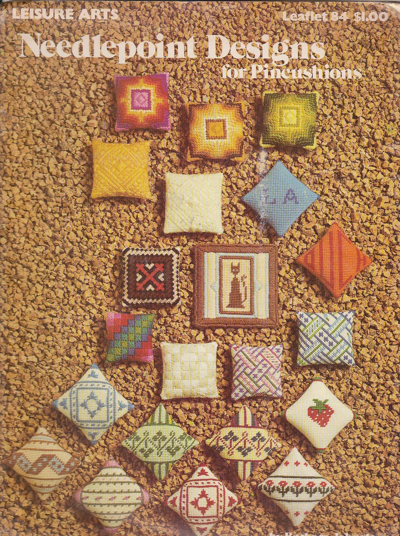 Needlepoint designs for pincushions (Leisure Arts leaflet 84)