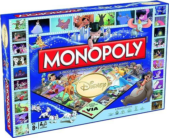 Winning Moves 029094 – Juego de Mesa Monopoly clásicos Disney, versión Italiana: Amazon.es: Juguetes y juegos