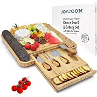 Joyjoom Cheese Board and Knife Set - Premium Bamboo Wood Charcuterie Platter Serving Tray with Cutlery - Perfect for…