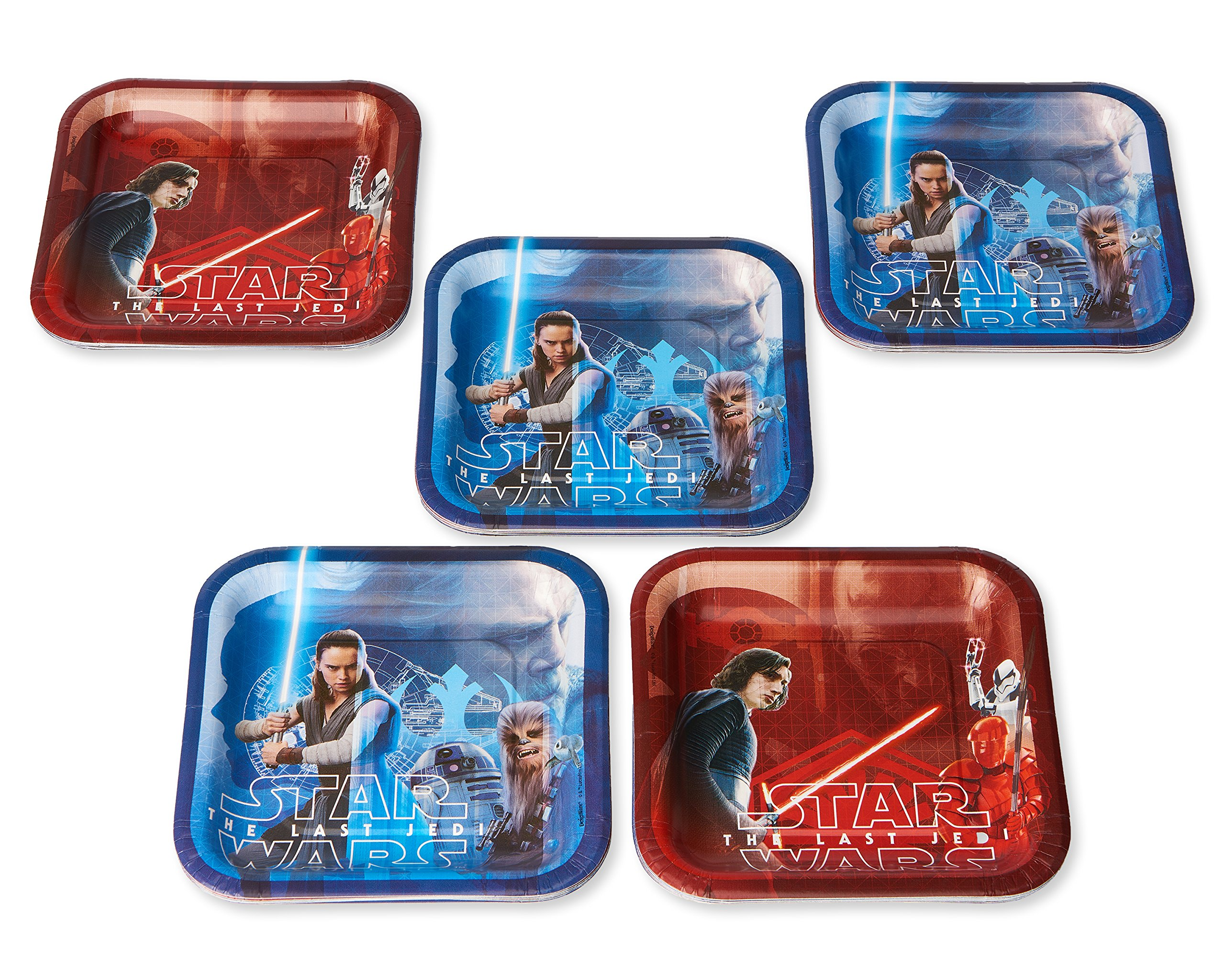 American Greetings Star Wars: the Last Jedi 40 Count Dessert Square Small Party Plates