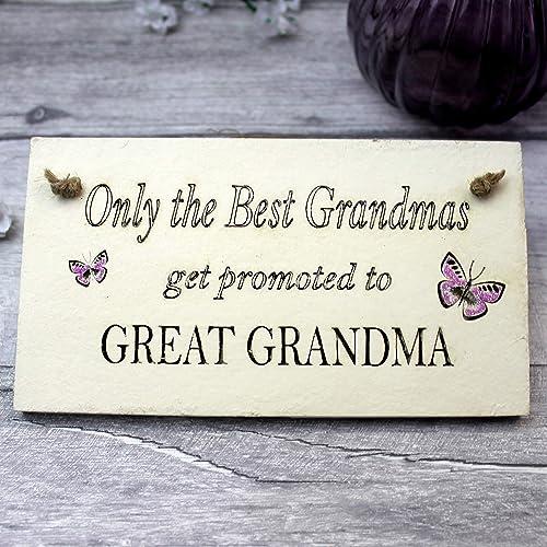 Baby Announcement Great Grandma Gift Sign Christmas Birthday Amazoncouk Handmade