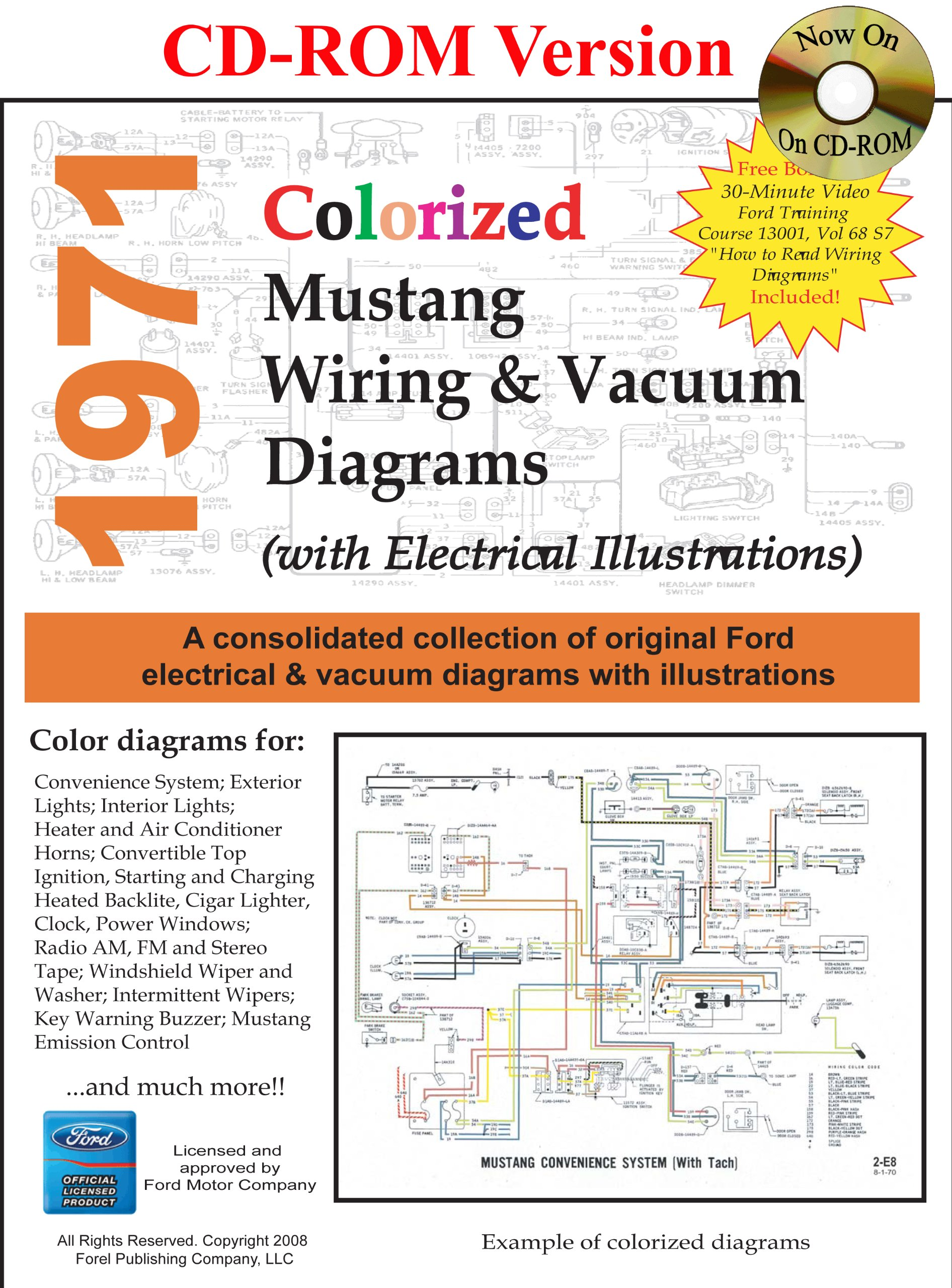 1971 colorized mustang wiring & vacuum diagrams: david e. leblanc, david e.  leblanc: 9781603710305: amazon.com: books  amazon.com