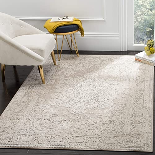 Safavieh Reflection Collection RFT664A Beige and Cream Area Rug 8' x 10'