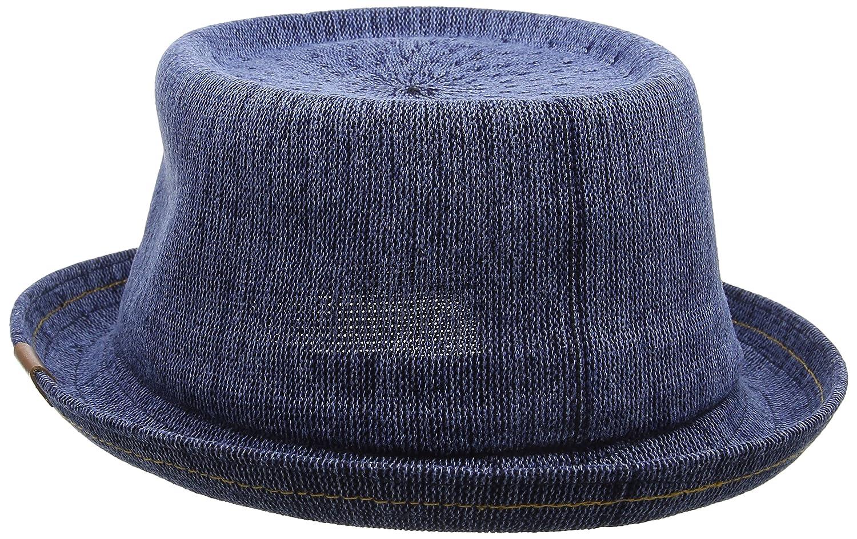 b6be83c2 Kangol Indigo Mowbray Porkpie Hat, Blue (Indigo Wash), Small: Amazon ...