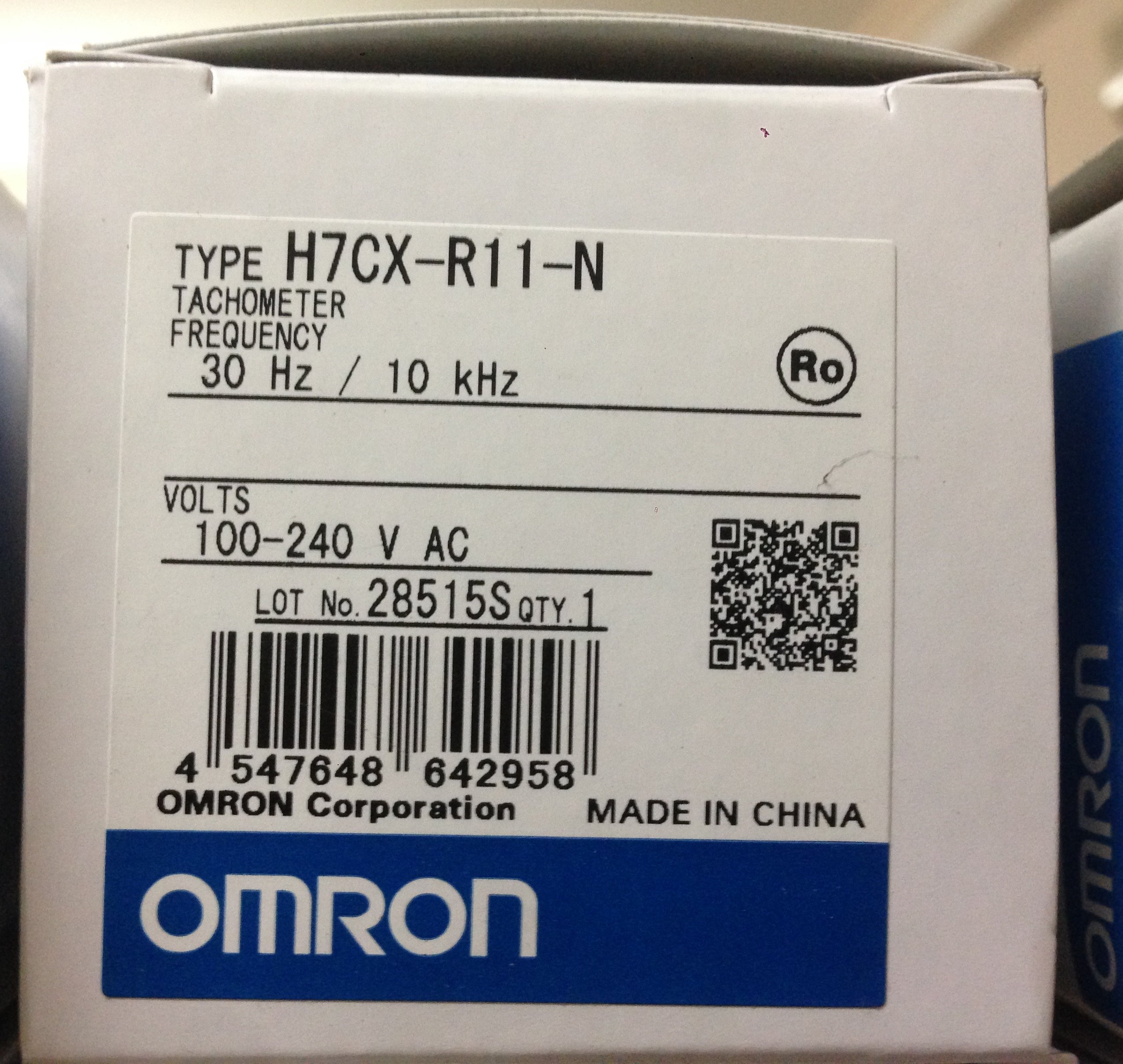 Omron H7CX-R11-N Tachometer (Puse Frequency Meter, 30Hz / 10kHz)
