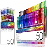 Glitter Pens 100 Set by Chromatek. Best Colors. 200% The Ink: 50 Gel Pens, 50 Refills. Super Glittery Ultra Vivid Colors…