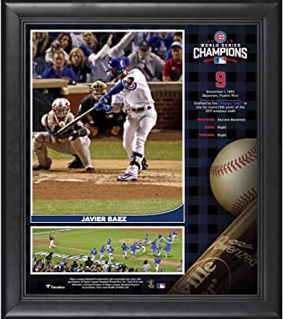 Javier Baez Chicago Cubs 2016 MLB World Series Champions Framed 15 quot  x  17 quot  Collage c4b220a5b