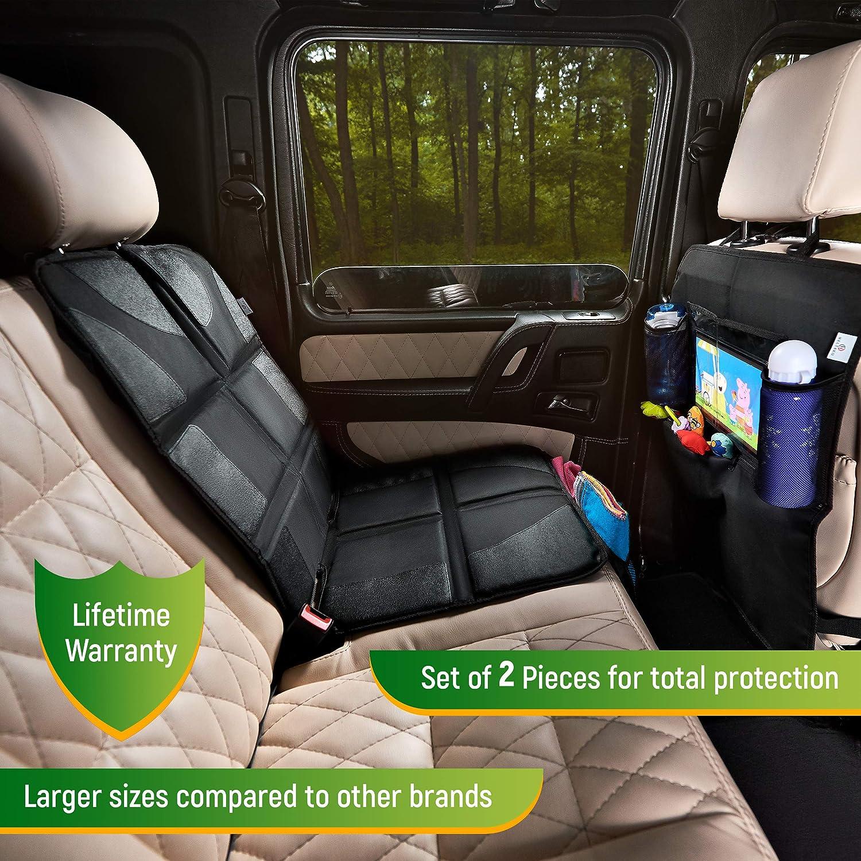 Amazon.com: Protector de asiento de coche + organizador de ...