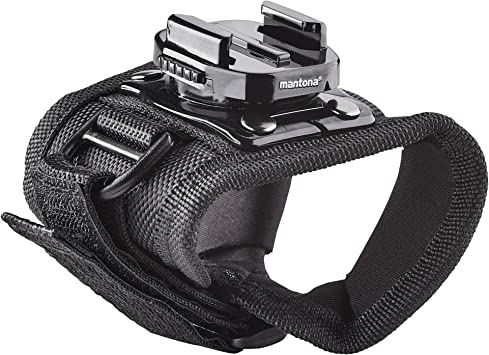 Mantona 21278 Handschuh Mit 360 Grad Drehbarem Kamera