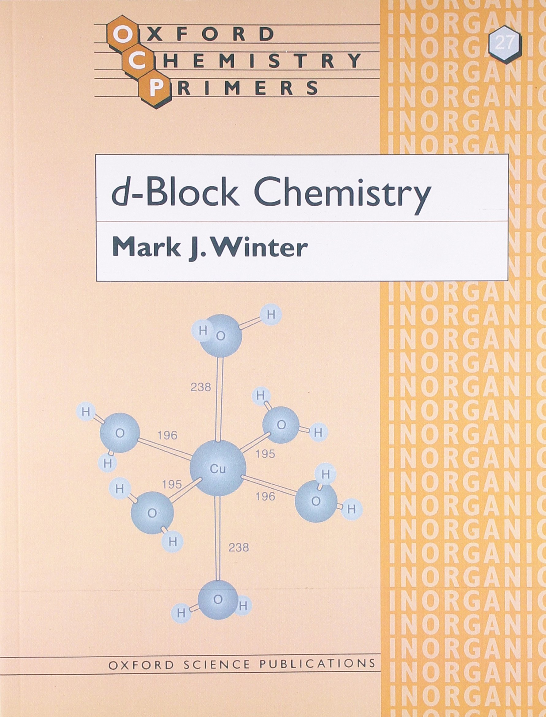 d block chemistry oxford chemistry primers
