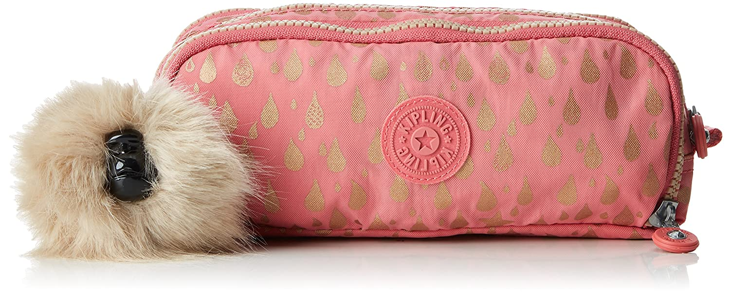 Amazon.com: Kipling Gitroy Pencil Cases, 23 cm, 1 liters, Pink (Pink Gold Drop): The Necessity limited