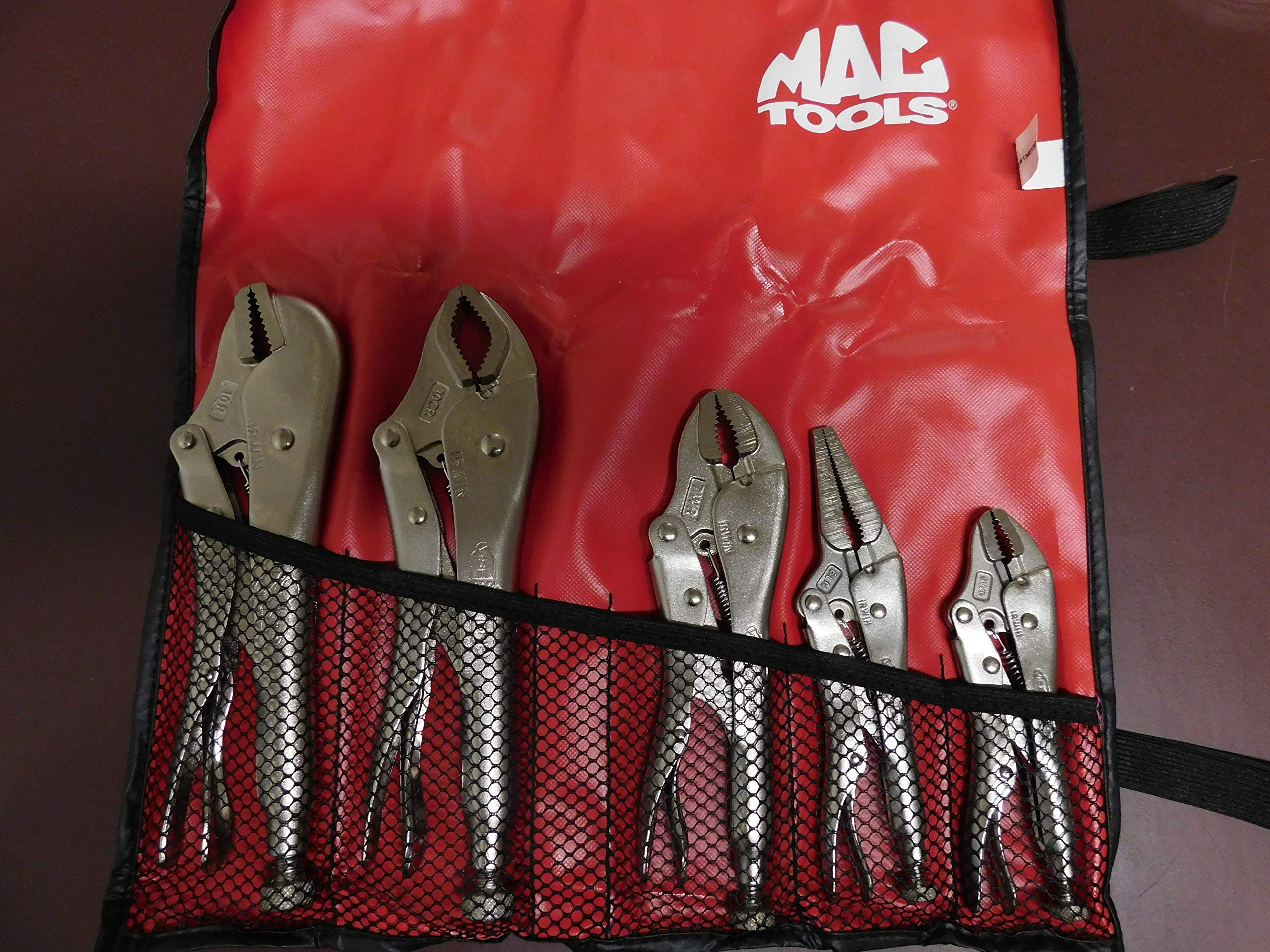 Mac Tools 5 Piece Vise Grip Set Made By Irwin with Mac Tools Pouch, Part #68MT by Mac Tools