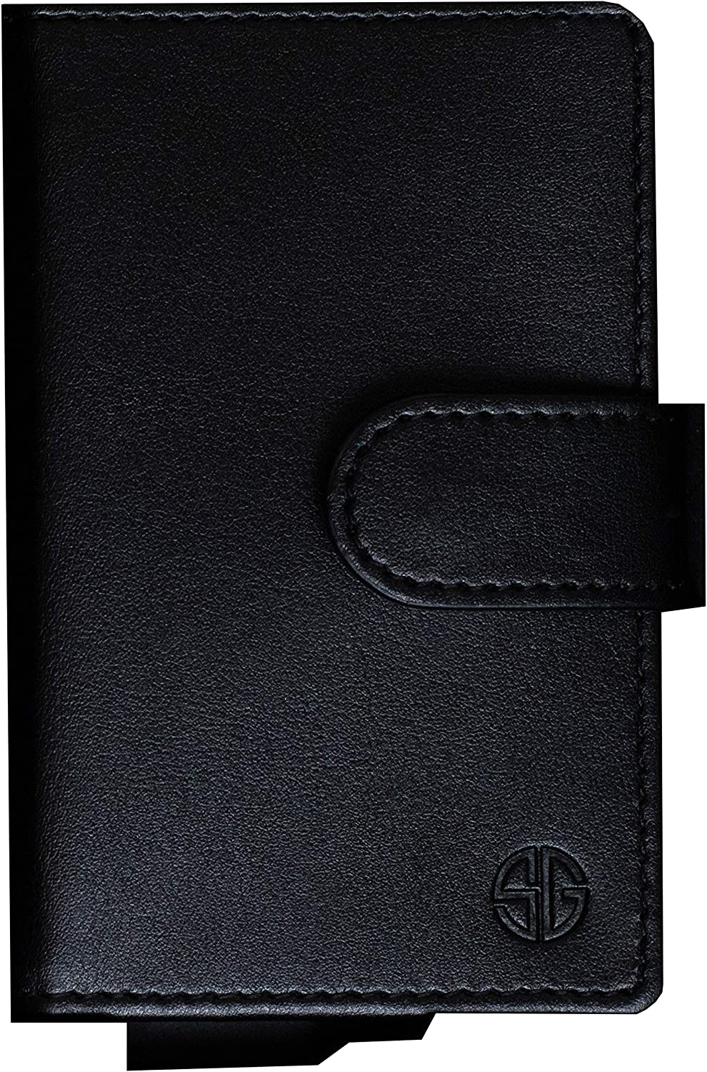 Wallet Mens Aluminum Credit Card Holder RFID Protection Black Anodized
