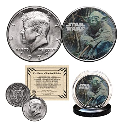 YODA - STAR WARS Officially Licensed 1977 Kennedy Half Dollar Coin with Certificate: Everything Else