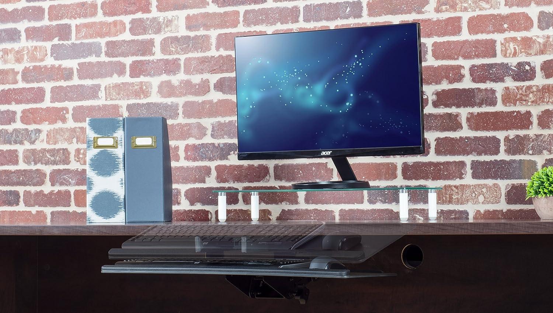 Vivo clavier d'ordinateur réglable en noir et plateau de plate-forme de la souris de luxe piste de roulement lisse sous le bureau table de montage (montage-kb04c)