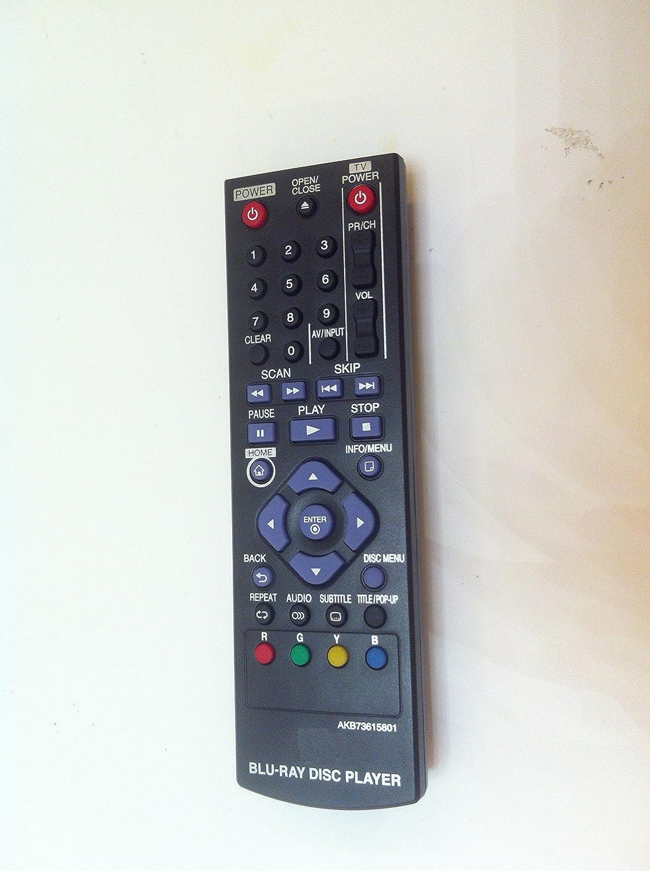 New Akb73615801 Blu-ray Disc Replaced Remote Control fit for Lg Bp125 Bp200 Bp220 Bp220n Bp320 Bp320n Bp325w