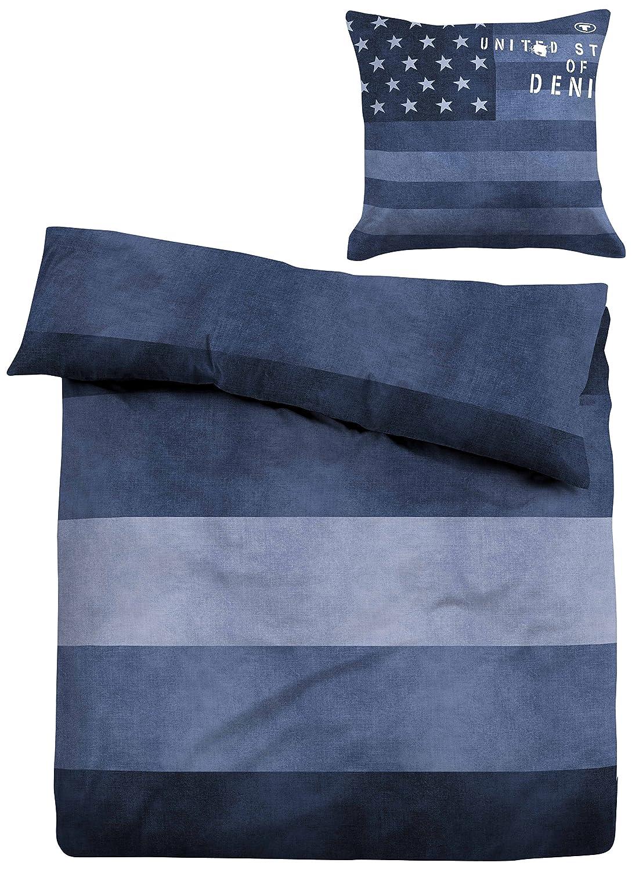 Beeindruckend Wasserbettbedarf Ideen Von Tom Tailor Lawn Duvet Cover, Cotton, Blue,