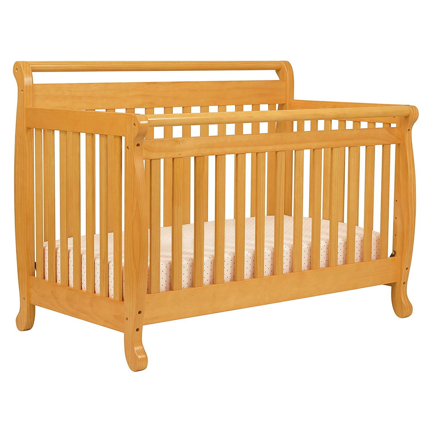 65 davinci kalani 4 in 1 convertible baby crib honey oak co