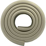 M2cbridge L Shape Extra Thick Furniture Table Edge Protectors Foam Baby Safety Bumper Guard 6.5 Ft (Grey)