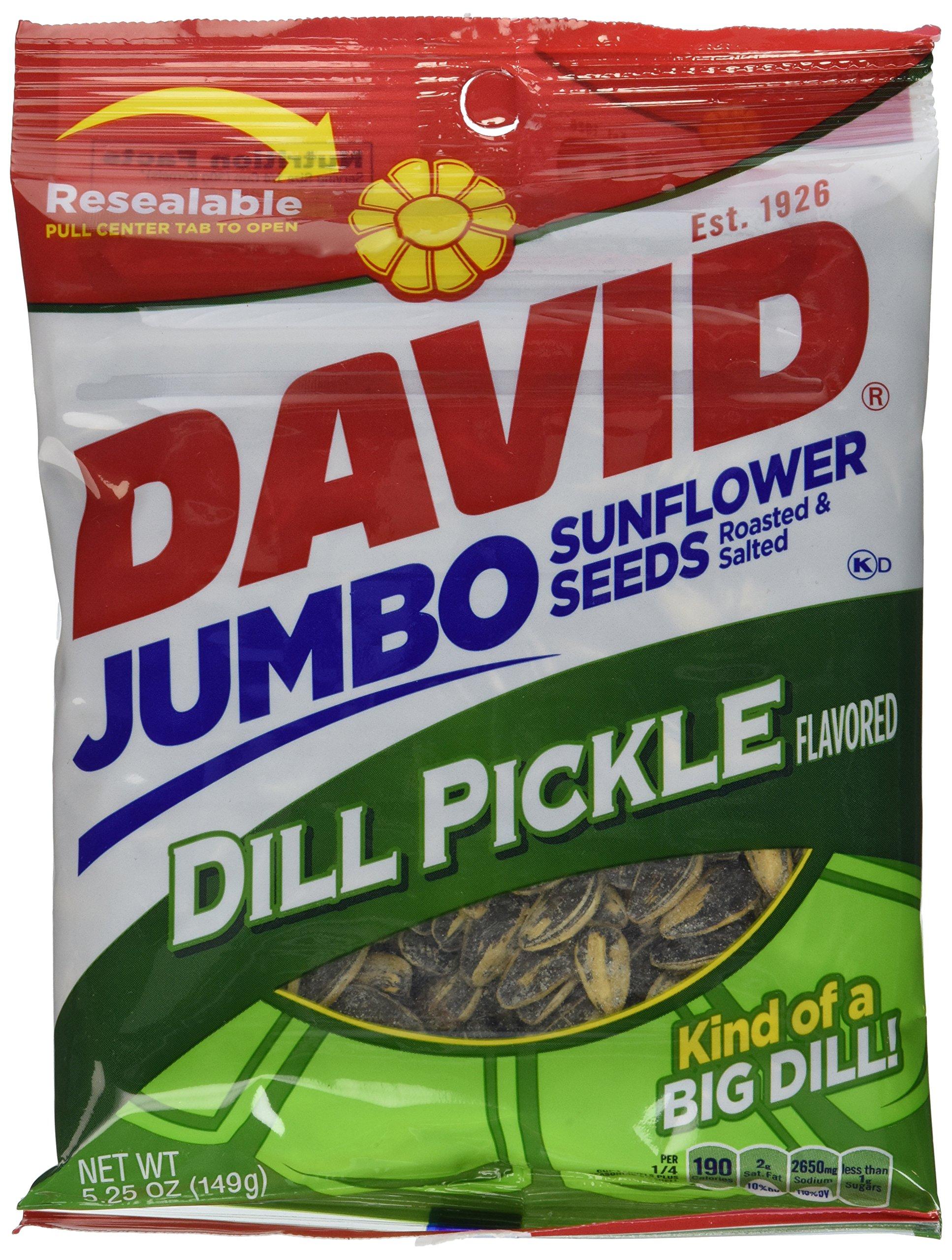 Conagra David Dill Pickle Sunflower Seed, 5.25 Ounce -- 12 per case.