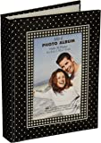 "MBI 802035Brag Book With Frame 36 Pocket 4""X6""-Black With White Dots"
