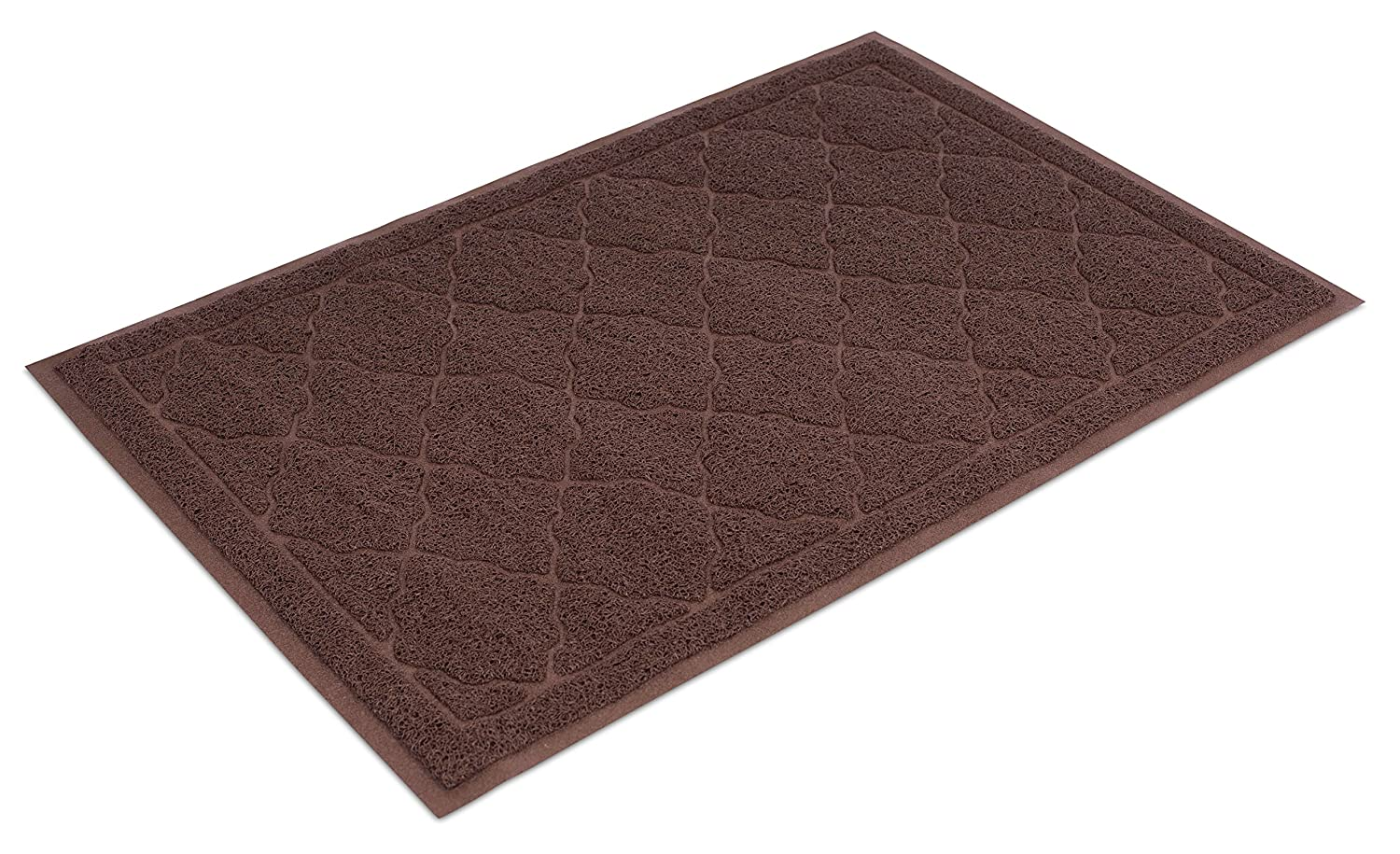 Brown Internet's Best Cat Litter Mat   35 x 24   Large   Kitty Litter Mat and Trap   Crystal Catcher Mat and Scatter Control   Soft Paw Touch   Brown