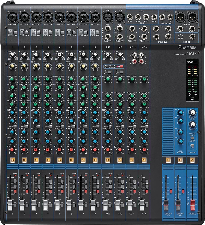 Yamaha - Mesa de mezclas MG16: Amazon.es: Instrumentos musicales