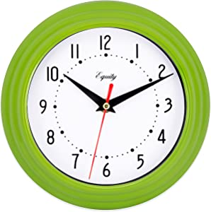 "Equity by La Crosse 25016 Analog Wall Clock 8"", Green"