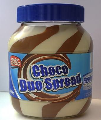 2 x Large Choco Duo Spread 750g Mister Choc Hazelnut