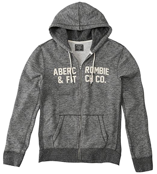 Abercrombie & Fitch - Sudadera con capucha - Manga Larga - para hombre gris jaspeado 52