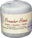 Premier Yarns Raffia Solids Yarn, Sterling