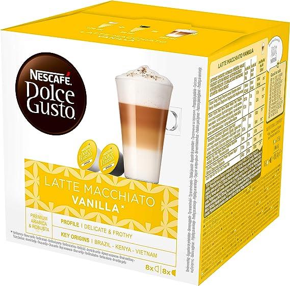 NESCAFÉ Dolce Gusto Café Latte Macchiato Vainilla, Pack de 3 x 16 ...