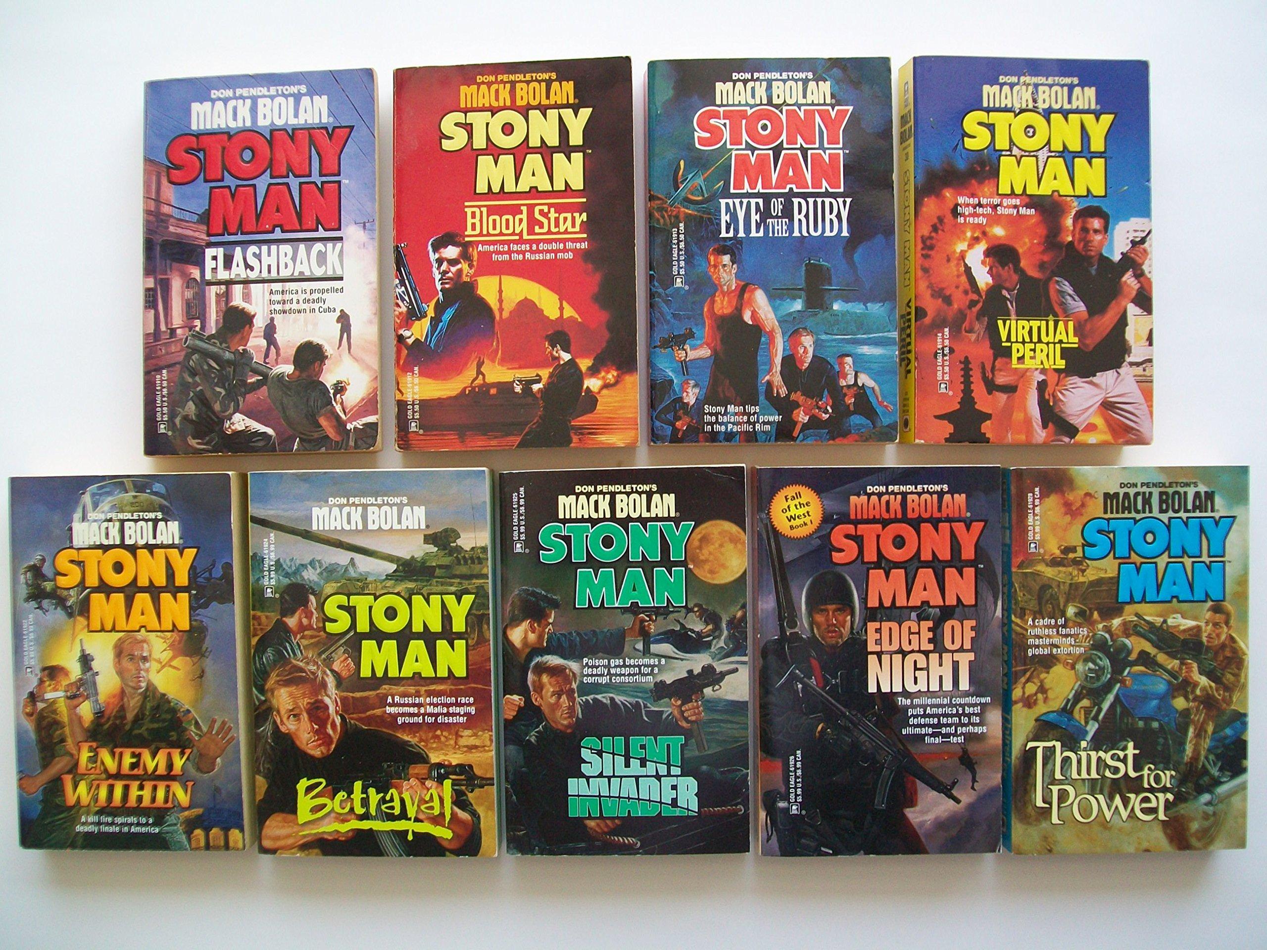 Mack Bolan Stony Man Series (Partial Set of 9) #26, #28-30, #38, #40-42,  #44: Don Pendleton: Amazon.com: Books